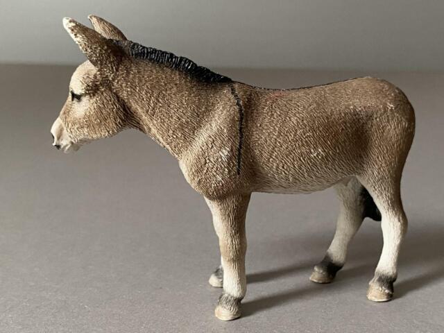 SCHLEICH Esel Spielfigur Grau