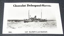 PHOTO CHOCOLAT DELESPAUL-HAVEZ 1950 CANADA QUEBEC FLEUVE SAINT LAURENT