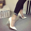 Women-039-s-office-shoes-Ladies-High-Stiletto-Heels-Leather-Pointed-Toe-Party-Shoes thumbnail 8