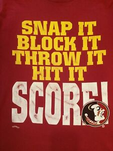 Vintage 90s NCAA Florida State SpellOut Single Stitch T Shirt By Nutmeg