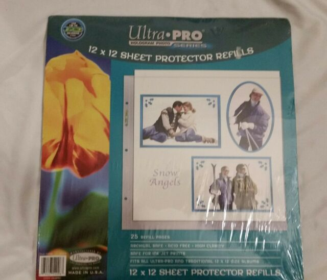 Ultra Pro Hologram Photo Series 12x12 Acid 25 Refill Page Made In
