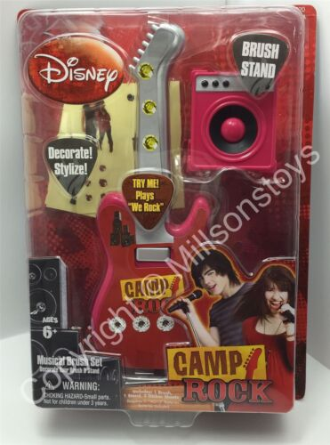 NEW Disney Film Camp Rock Musical HAIRBRUSH with Stand