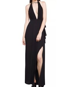 NEW-WITH-TAG-298-BCBG-MAX-AZRIA-ANGELINE-HALTER-open-back-DRESS