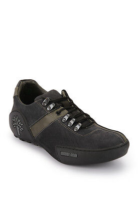 Woodland Mens Black Outdoor Adventure Casual Shoes GC-1120111 - Free Shipping