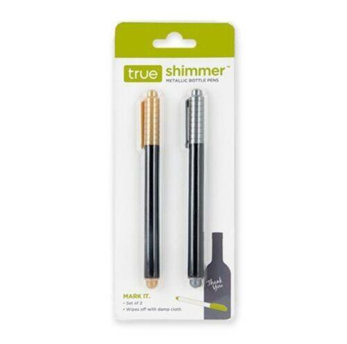 METALLIC PENS SHIMMER™ Gold /& Silver Marker Paint Pen Set-Instant Dry on Glass