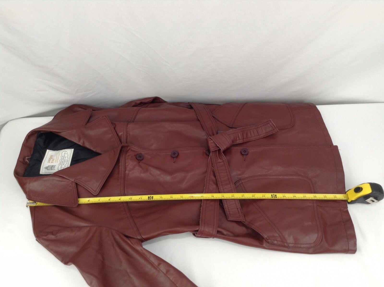 London Fog Red Leather Coat - Ladies Ladies Ladies 16 - Made in USA 9ddfe0