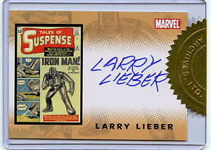 Iron-Man-Larry-Lieber-Autographed-Chase-Card-Rittenhouse-Marvel-Comics-B1