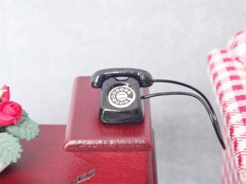 Miniature Metal Office Desk Phone Dial Telephone Dollhouse Furniture 1//12 Decor