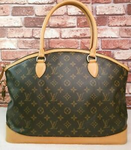 Authentic-Louis-Vuitton-Lockit-Horizontal-Monogram-Canvas-Tote-Bag-with-Padlock