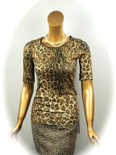 149 € Marccain Collections Shirt Avec Leoprint Taille n1//34 NEUF