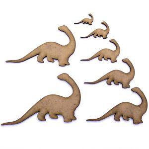 Brachiosaurus Dinosaure MDF Craft blanc forme de 150 mm