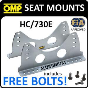 SALE-HC-730E-OMP-RACING-ALUMINIUM-SILVER-SEAT-MOUNT-SIDE-BRACKETS-BUCKET-SEATS