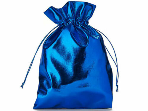 Geschenktasche Hochzeit//Weihnachten 20 Organzabeutel Metallic Blau 15x10 cm