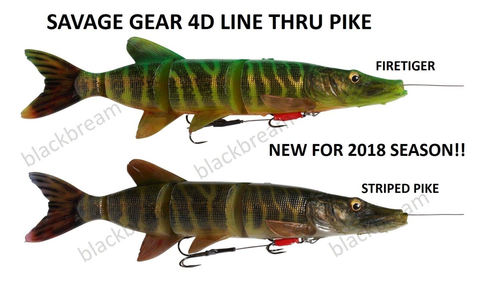 Savage Gear 4d Line Thru Trout 15cm-35g SS Swim Baits Cast pike zander Trolling