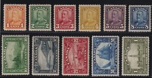 Canada-Sc-149-59-1928-9-Scroll-Issue-Complete-Set-Bluenose-Mint-VF-NH