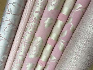 Soft Lush Pink Turquoise Damask Stripe Damask Curtain Decor Fabric