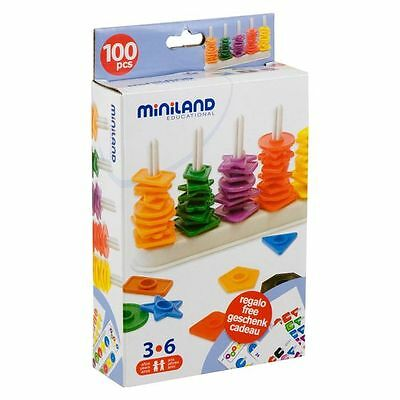 NEW Miniland Abacus With 100 Shapes