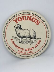 Vintage-Young-039-s-London-039-s-Best-Ales-Beer-Coaster-Bar-Decoration-Man-Cave