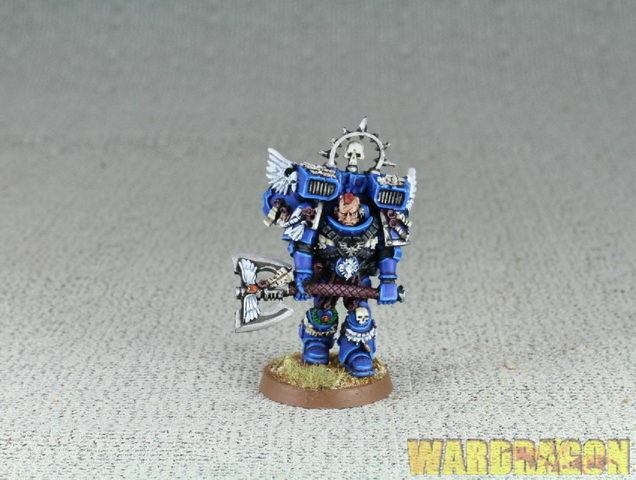 25mm Warhammer 40K WDS painted Space Marine Captain:Lord Executioner e59