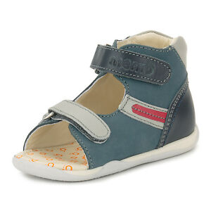 Memo MIKI 1CH Navy Blue Baby First Walking Leather Orthopedic Shoes ... ed79164b0