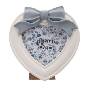 Home Decor Lovely Bowknot Decor Gift Heart Photo Frame Stand Wooden Home Party Decor