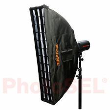 PhotoSEL SBSR3X14BE 35x140cm Strip Softbox & Honeycomb Grid Bowens S Speed Ring