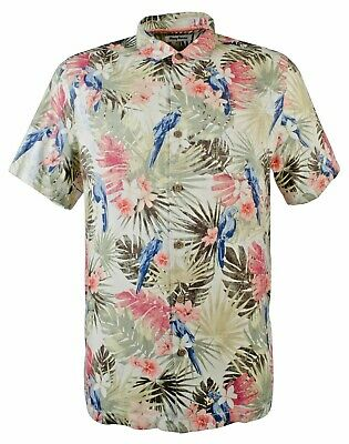 NWT $150 Tommy Bahama Short Sleeve Blue Floral Camp Shirt Mens 2XL 3XL Bluebell