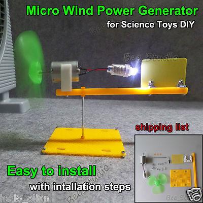 Wind Turbines Generator Model Mini DC Motor For DIY small science project  kits | eBay