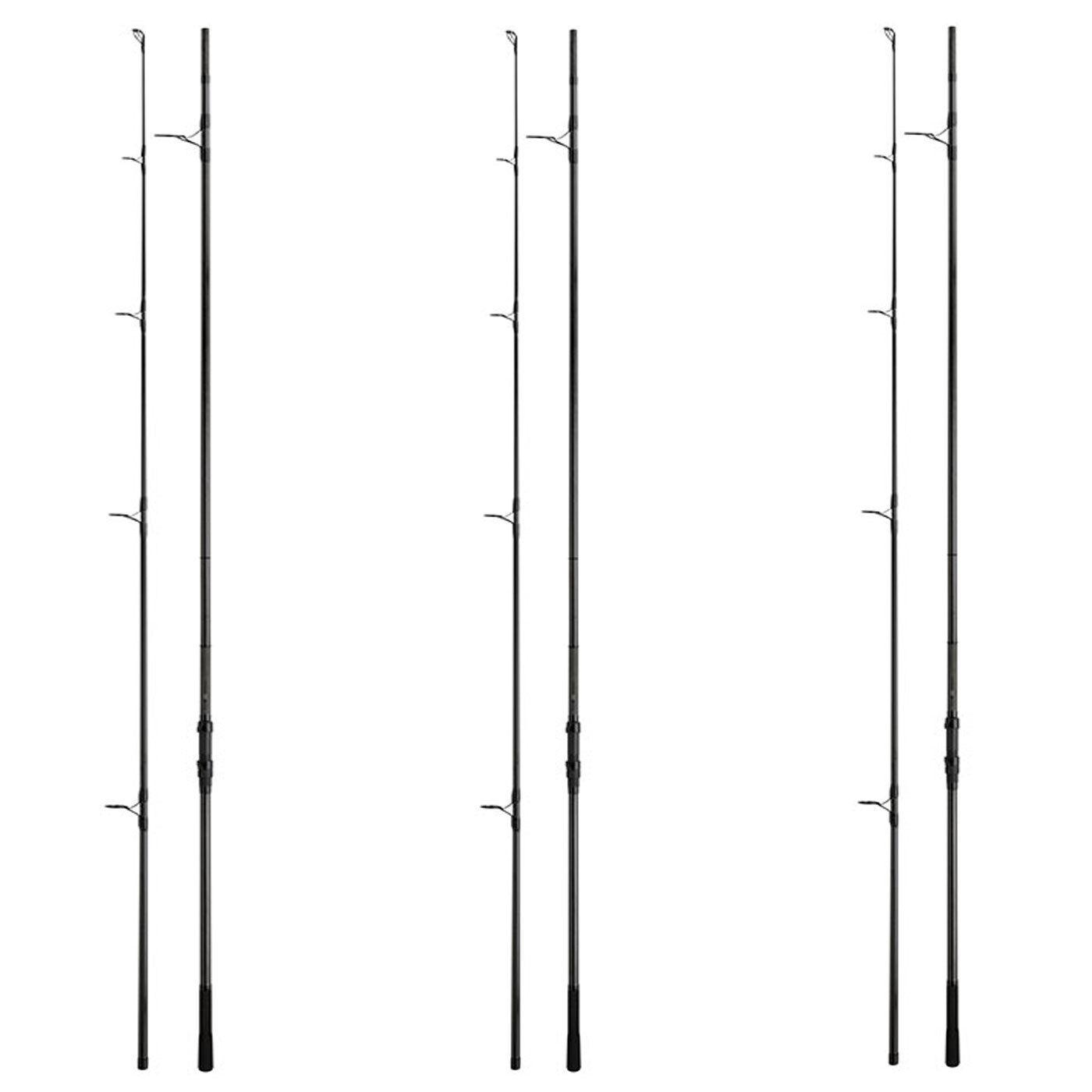Fox Horizon X3 Carp Rods x 3 - 12ft 3lb T.C - 50mm Ring - Abbreviated Handle.