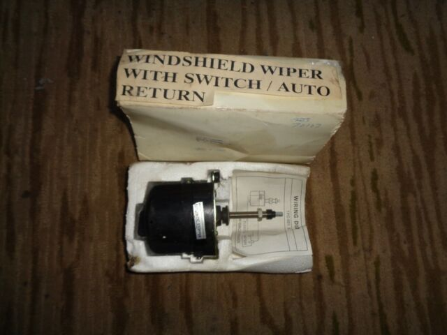 12 Volt Universal Wind Shield Wiper Motor With Wiring Diagram