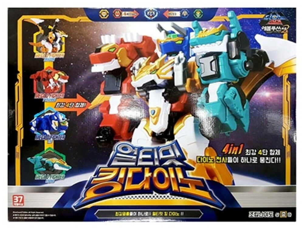 Dino Core Evolution 2 Ultimate Rey Dino 4 en 1 copolímeros Transformer Robot