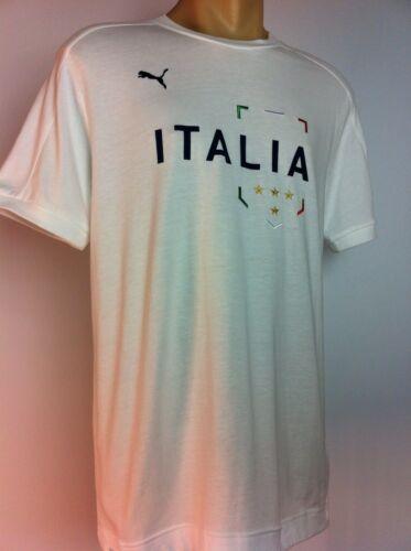 Italia Puma Shirt T-Shirt Football World Cup Size Large Azzurri shirt Italy New