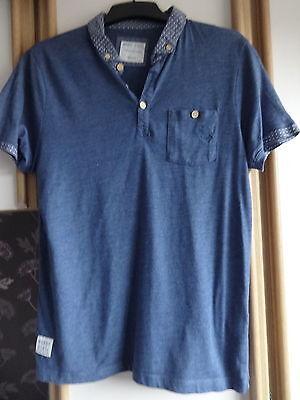 #g16 - Blu Manica Corta Camicia Polo Da Nanny State-taglia Med-mostra Il Titolo Originale