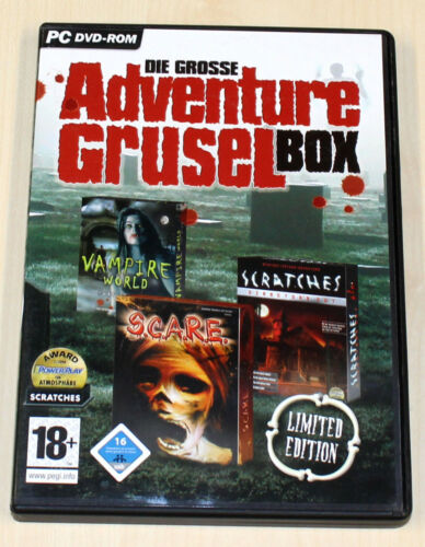 1 von 1 - DIE GROßE ADVENTURE GRUSELBOX - 3 PC GAMES - SCRATCHES S.C.A.R.E. VAMPIRE WORLD