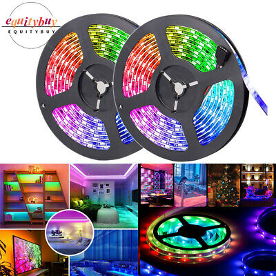 5M Flexible LED Strip Light 2835 SMD RGB Fairy Light TV Party Bar Indoor Outdoor