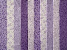 20 JELLY ROLL STRIPS 100% COTTON PATCHWORK FABRIC LILAC 22 INCH LONG