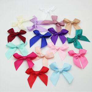 3060100pcs big satin ribbon flowers bows craft wedding decoration image is loading 30 60 100pcs big satin ribbon flowers bows mightylinksfo