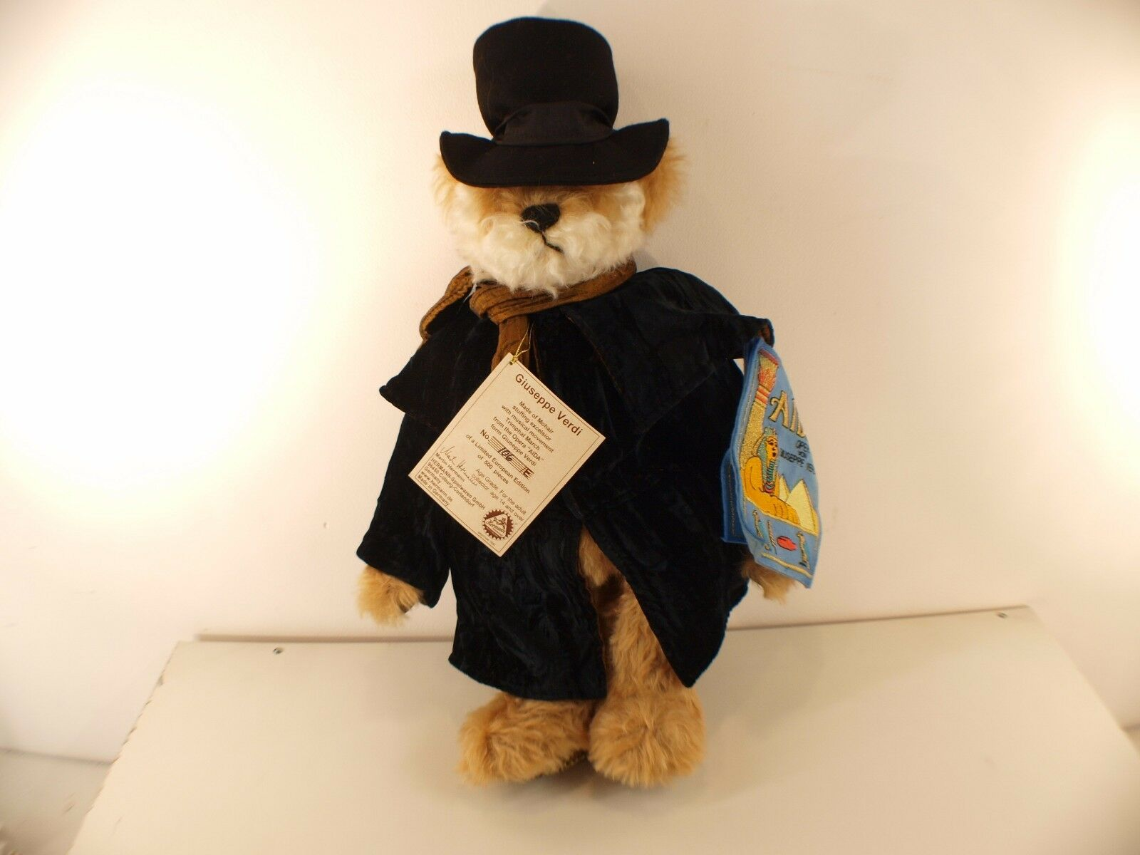 Hermann ours Bear Giuseppe Verdi Aida nounours peluche 45 cm neuf n°106 500 ex