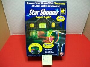 BRAND NEW IN BOX BULBHEAD STAR SHOWER IN/OUT DOOR LASER LIGHT HOLIDAY LIGHTING