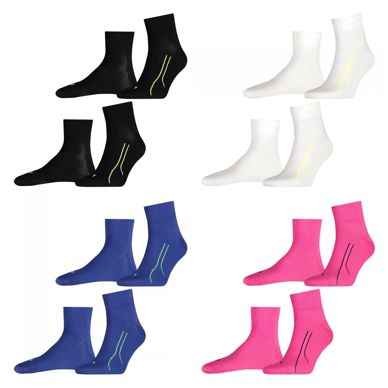 2 Paar PUMA Quarter unisex PERFORMANCE RUN TRAIN Socken Sport Freizeit FARBWAHL