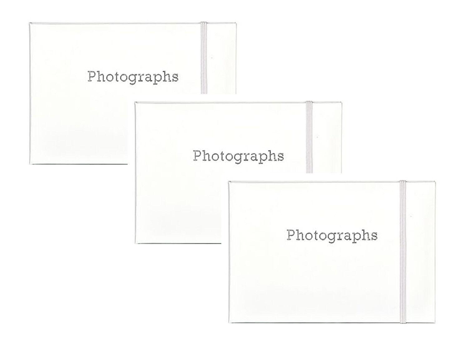 3 x Slip In Photo Album Photography Storage Holds 72 6