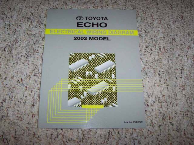 2002 Toyota Echo Electrical Wiring Diagram Manual 1 5l