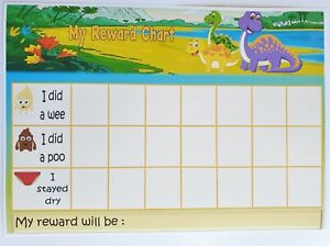 MAGNETIC-DINOSAUR-Reward-Chart-POTTY-TOILET-TRAINING-FREE-pen-stickers