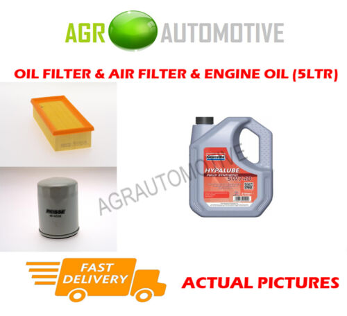 PETROL OIL AIR FILTER KIT + FS 5W40 OIL FOR ROVER 45 1.6 109 BHP 2000-05