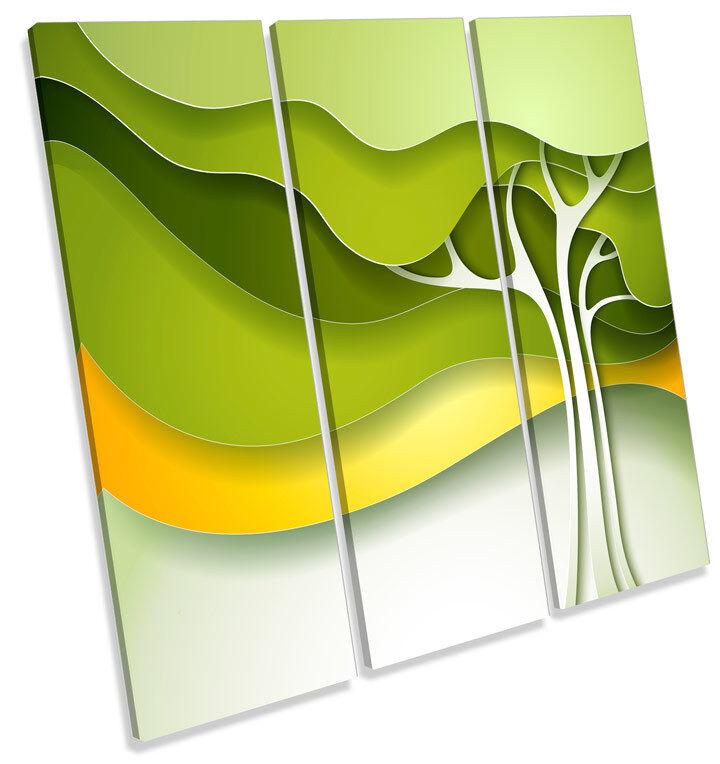 Verde Abstracto Foto Árbol Funky LONA pared arte Foto Abstracto impresión cuadrado de agudos 75a899