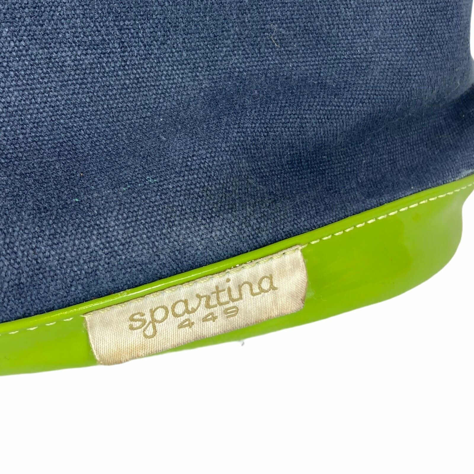 Spartina 449 Womens Green Navy Blue Seahorse Open Tote Bags
