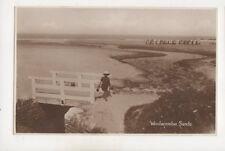 Woolacombe Sands Devon Vintage RP Postcard Renshaw 534b