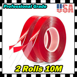 """20M 780"""" Double Sided Adhesive Foam Sticky Tape Clear Transparent Home Car Cells"""