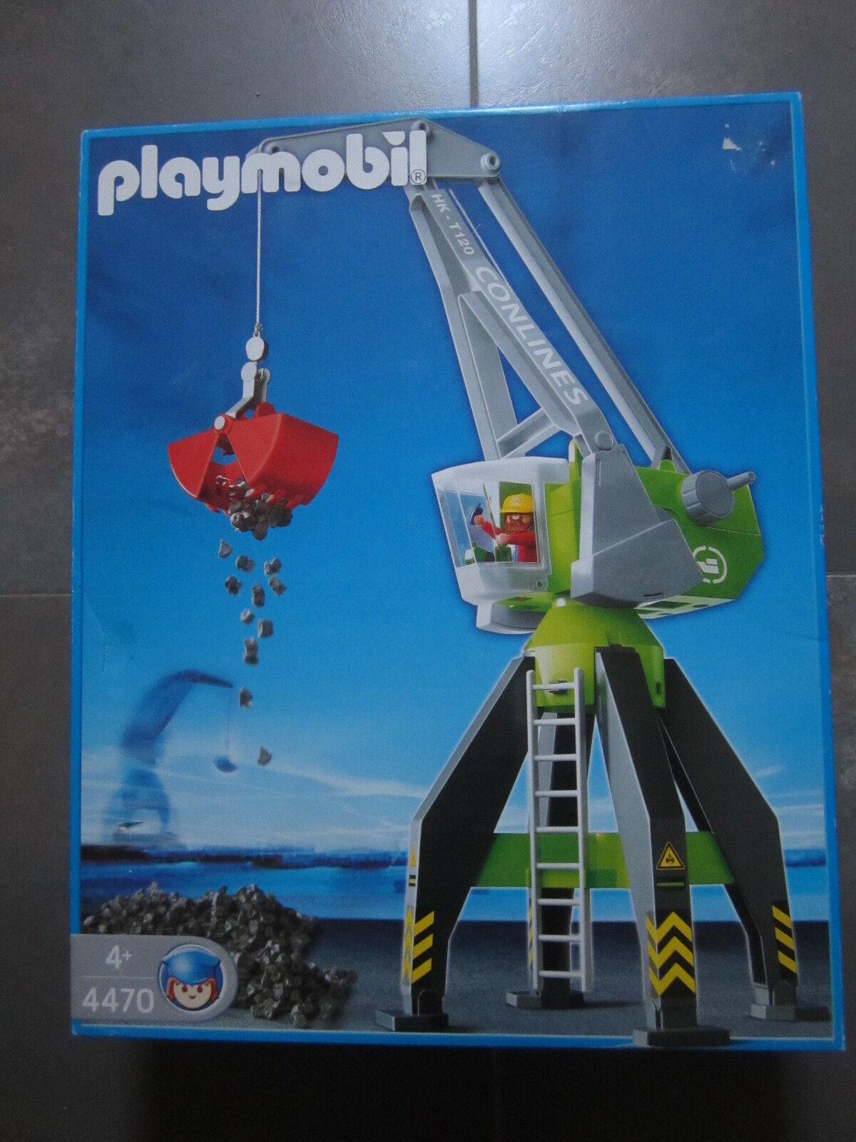 SET PLAYMOBIL REFERENCIA 4470 GRUA AÑO 2004