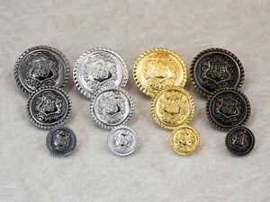 Metallknoepfe-Wappen-fuer-Uniform-Jacke-und-Mantel-12-18-23-mm-Knopf-mit-Ose